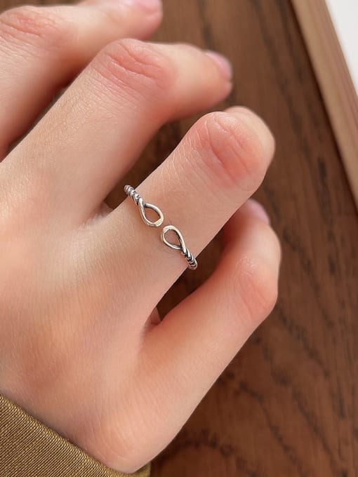 Rope ring j68 1g 925 Sterling Silver Carnelian Irregular Vintage Band Ring