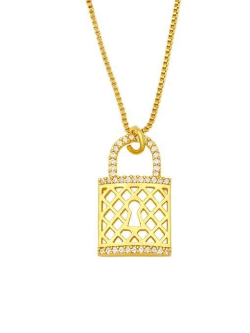 A Brass Cubic Zirconia Heart Hip Hop Necklace