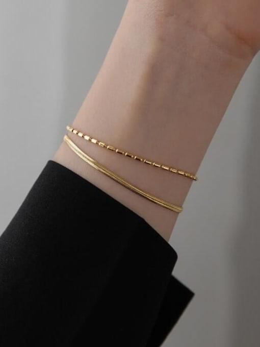 A TEEM Titanium Steel Snake Minimalist Strand Bracelet 1