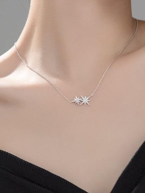 Rosh 925 Sterling Silver Rhinestone Star Minimalist Necklace 1