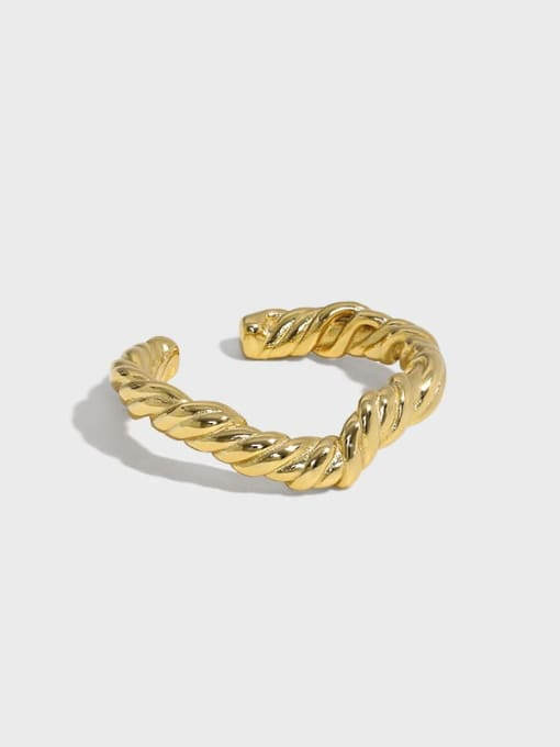 DAKA 925 Sterling Silver Round Vintage Band Ring 0