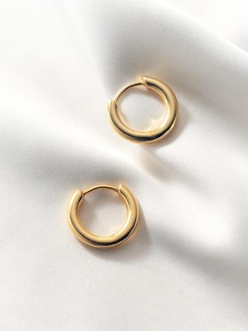 Rosh 925 Sterling Silver Geometric Minimalist Huggie Earring 2