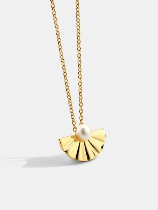 CHARME Brass Imitation Pearl Irregular Vintage Necklace 0