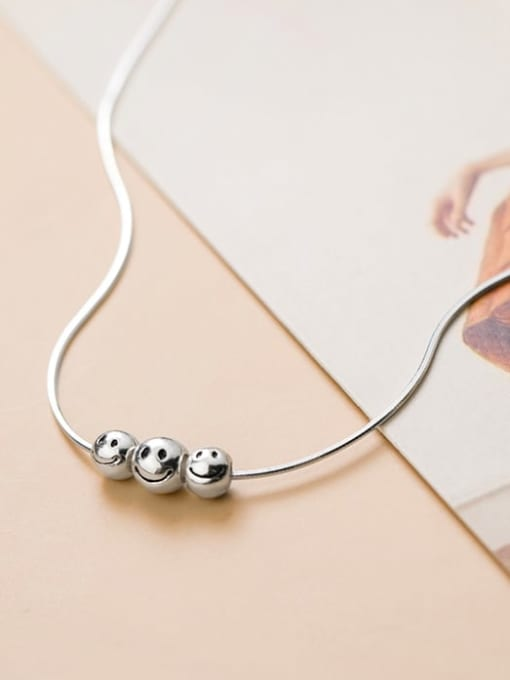 Rosh 925 Sterling Silver Face Minimalist Necklace 2