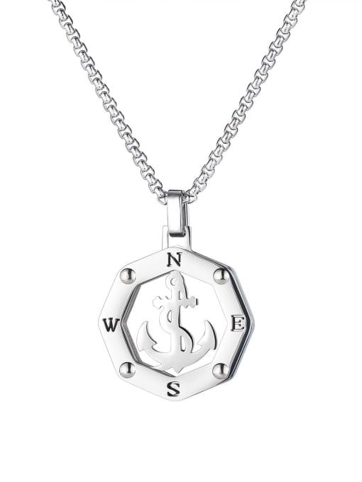 1883 Pendant (with chain) Titanium Steel Anchor Hip Hop Necklace