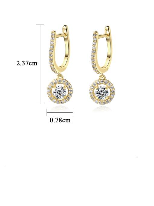 CCUI 925 Sterling Silver Cubic Zirconia Geometric Luxury Huggie Earring 3
