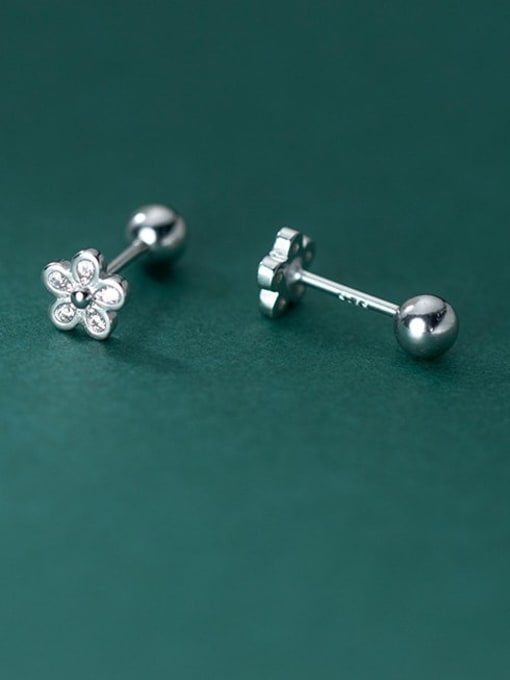 Rosh 925 Sterling Silver Flower Minimalist Stud Earring 0
