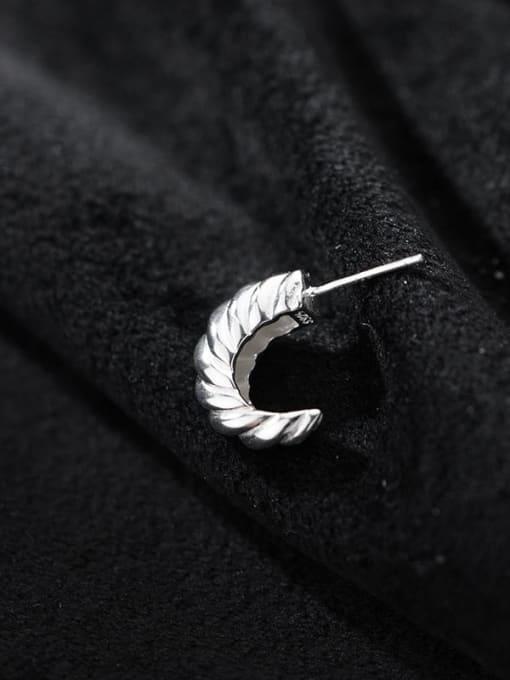 Rosh 925 Sterling Silver Irregular Vintage Stud Earring 1