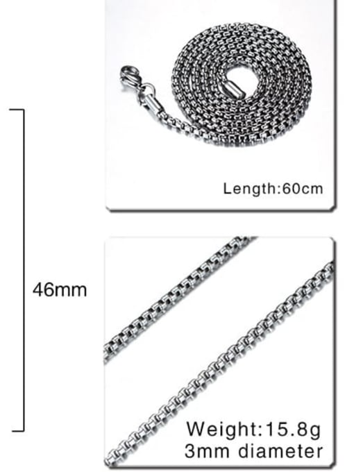 CONG Stainless steel Geometric Minimalist Necklace 4