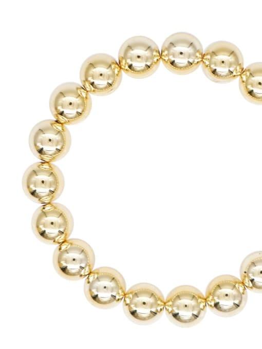 10mmQT B200110A Stainless steel Bead Round Minimalist Beaded Bracelet