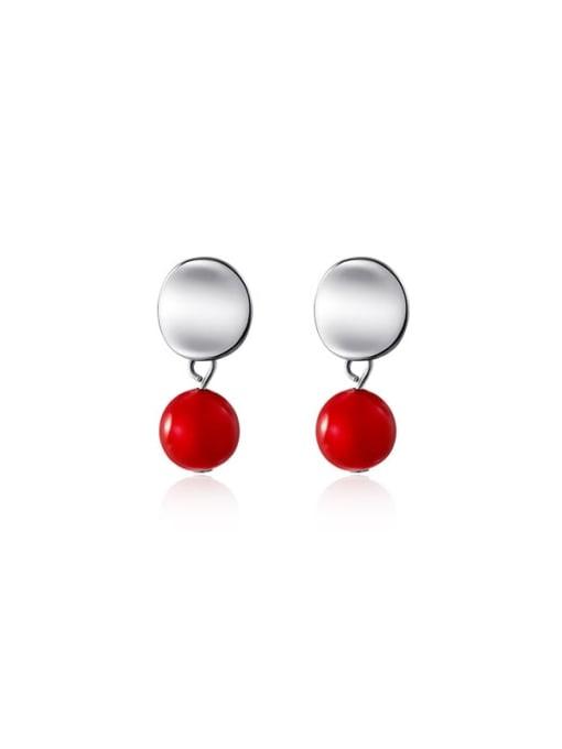 Rosh 925 Sterling Silver Enamel Geometric Minimalist Drop Earring 0
