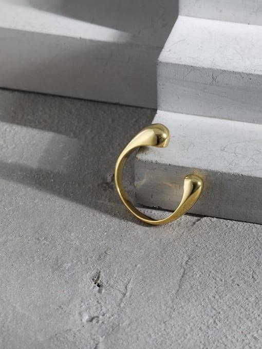 DAKA 925 Sterling Silver Water Drop Minimalist Band Ring 4