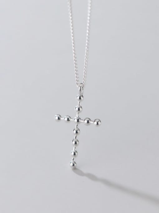 Rosh 925 Sterling Silver Cross Minimalist Pendant Necklace 3