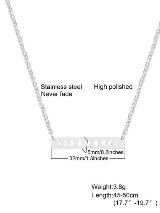 Steel color Titanium Steel Smooth Geometric Minimalist Necklace