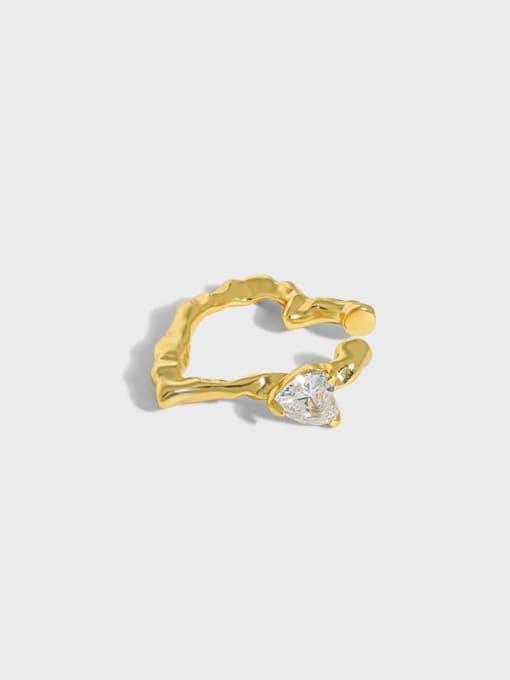 DAKA 925 Sterling Silver Cubic Zirconia Heart Minimalist Single Earring 0