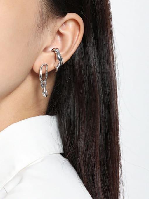 DAKA 925 Sterling Silver Geometric Minimalist Drop Earring 2