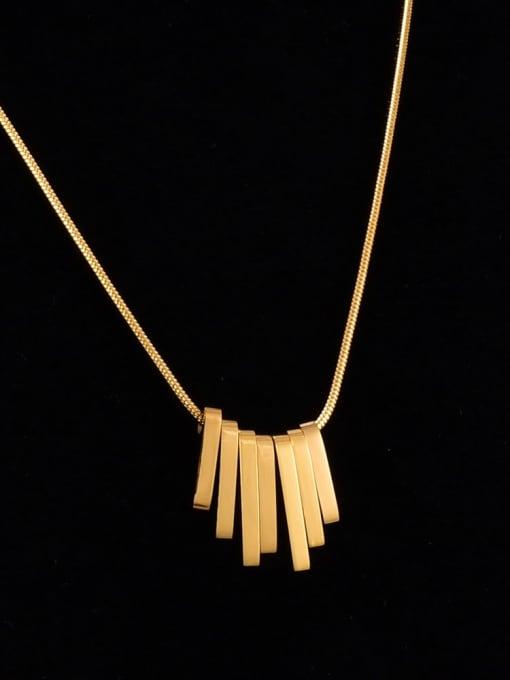 A TEEM Titanium Steel Smooth Geometric Vintage Necklace 0
