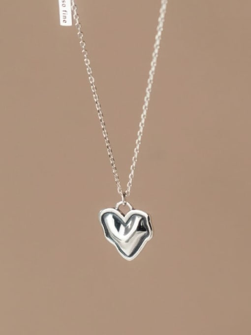 Rosh 925 Sterling Silver Heart Minimalist Necklace 3