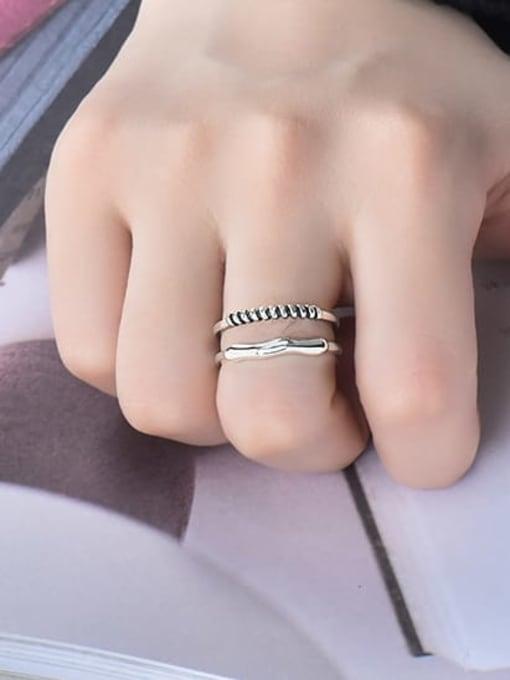 XBOX 925 Sterling Silver Irregular Vintage Stackable Ring 1