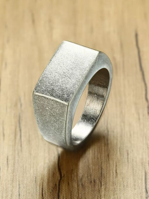CONG Stainless steel Geometric Minimalist Band Ring 3