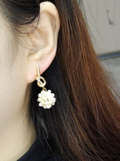 RAIN Brass Freshwater Pearl Bowknot Vintage Stud Earring 1