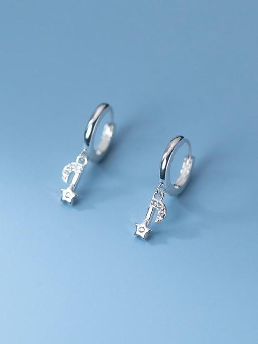 Rosh 925 Sterling Silver Cubic Zirconia Star Minimalist Huggie Earring 2