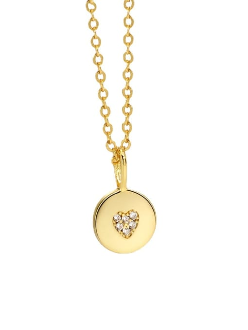 CHARME Brass Cubic Zirconia Geometric Minimalist Necklace 3