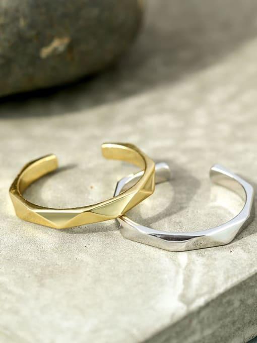 CHARME Brass Smooth Geometric Minimalist Band Ring 1