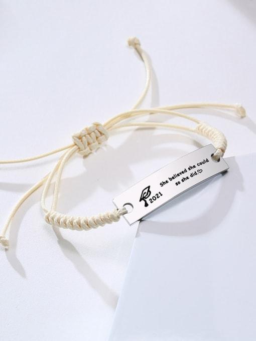 CONG Stainless steel Geometric Minimalist Woven Bracelet 3