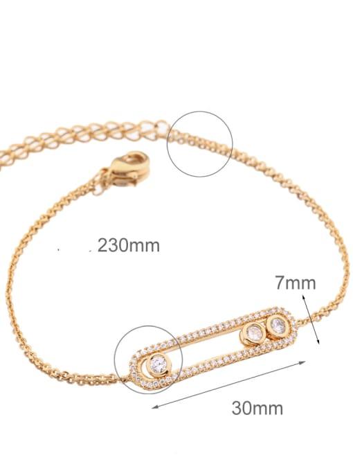 CC Alloy Cubic Zirconia Geometric Vintage Link Bracelet 3