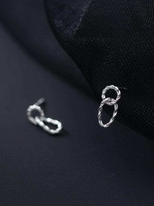 Rosh 925 Sterling Silver Geometric Minimalist Drop Earring 2