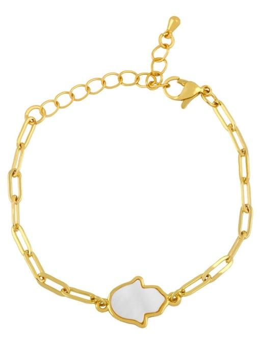 CC Brass Shell Butterfly Minimalist Adjustable Bracelet 1