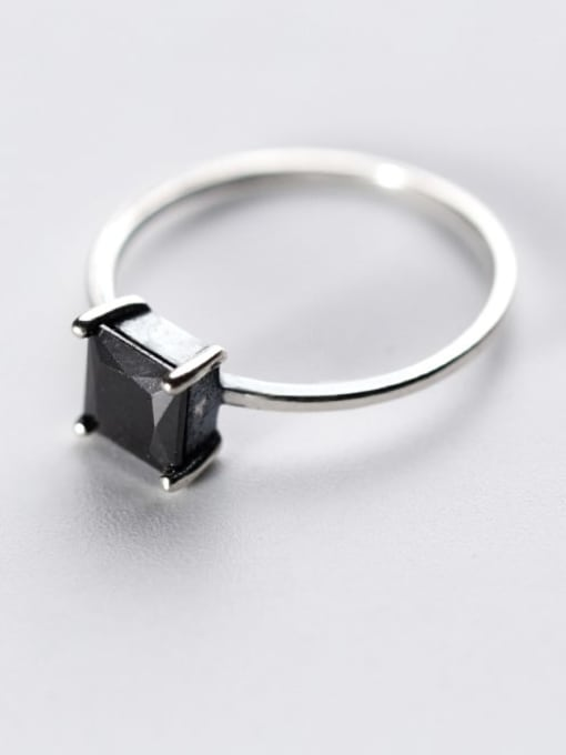 Rosh 925 Sterling Silver Cubic Zirconia Geometric Vintage Band Ring