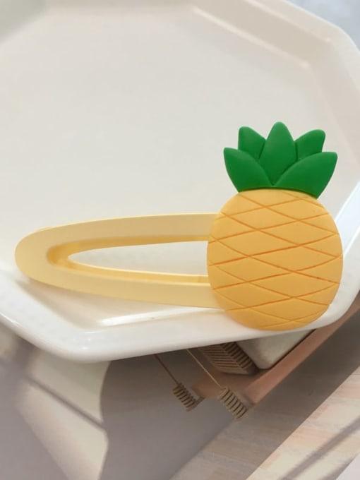 pineapple Alloy Resin Cute Friut  Hair Barrette