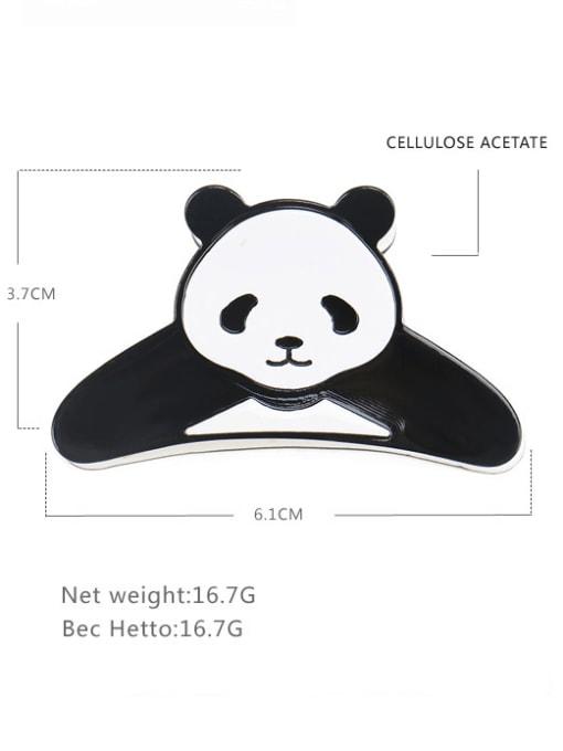 panda Cellulose Acetate Cute Bear Zinc Alloy Jaw Hair Claw