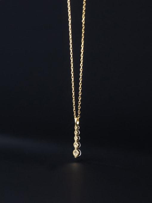 Rosh 925 Sterling Silver Cubic Zirconia Geometric Minimalist Necklace 3