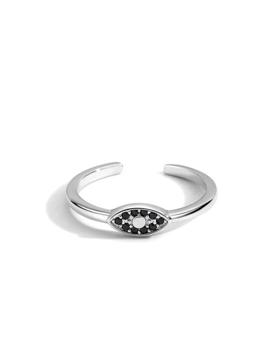 Platinum eye ring Brass Cubic Zirconia Evil Eye Vintage Band Ring