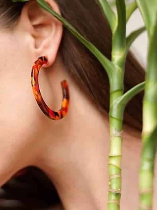Chimera Cellulose Acetate Geometric Vintage Drop Earring 1