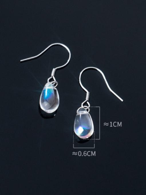Rosh 925 Sterling Silver Water Drop Minimalist Hook Earring 1