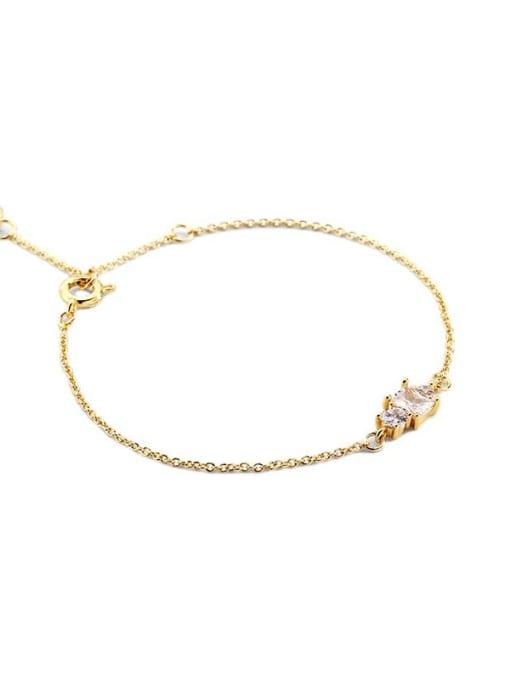 CHARME Brass Cubic Zirconia Geometric Vintage Link Bracelet 3