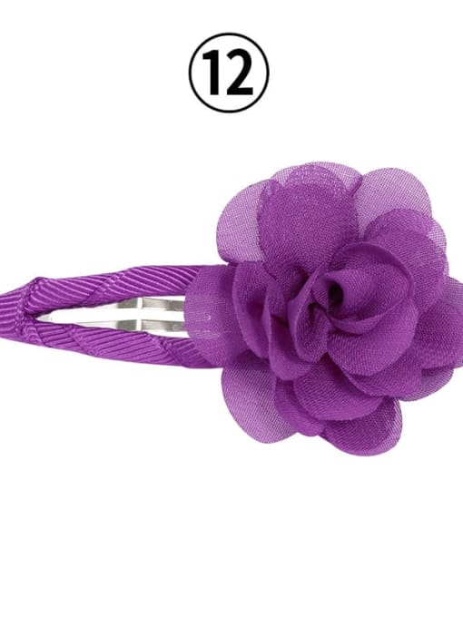 12 grape purple Alloy Yarn Minimalist Flower  Multi Color Hair Barrette