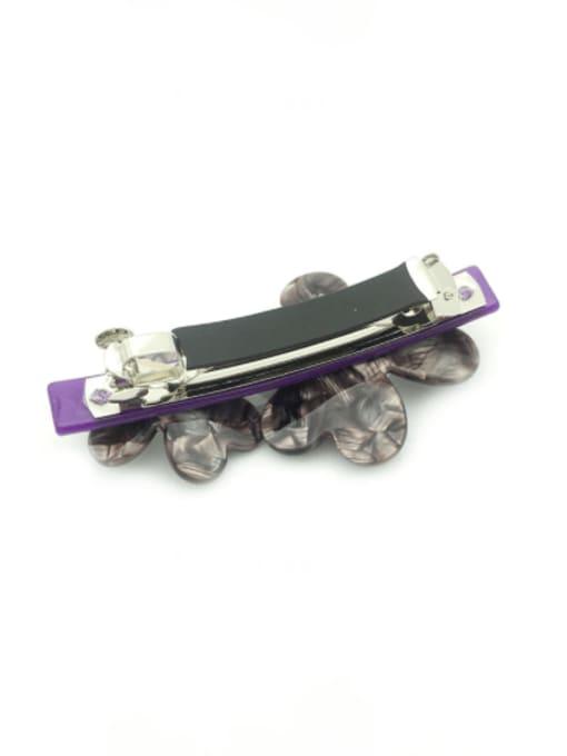 Flower purple Cellulose Acetate Minimalist Flower Zinc Alloy Spring clip Hair Barrette