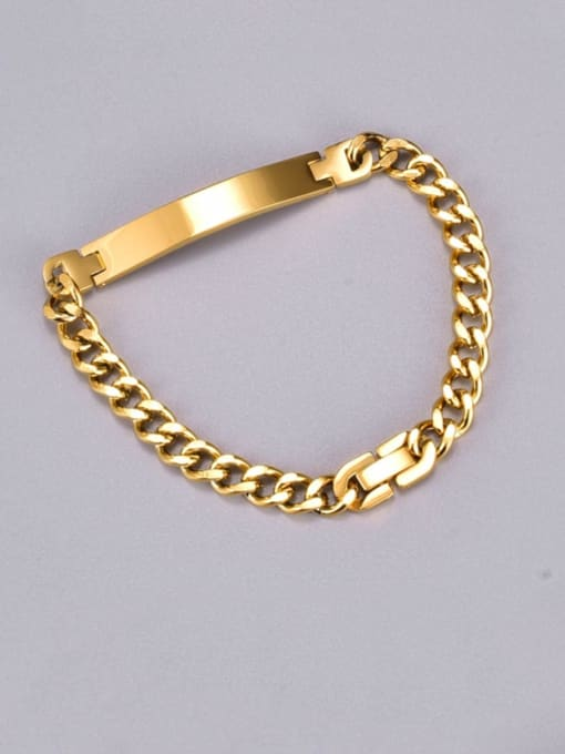 A TEEM Titanium Steel Geometric Vintage Hollow Chain Link Bracelet 2