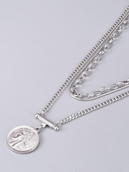 A TEEM Titanium Steel Geometric Vintage Multi Strand Necklace 2