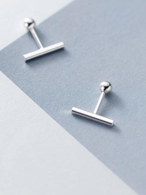 Rosh 925 Sterling Silver Geometric Minimalist Stud Earring 3