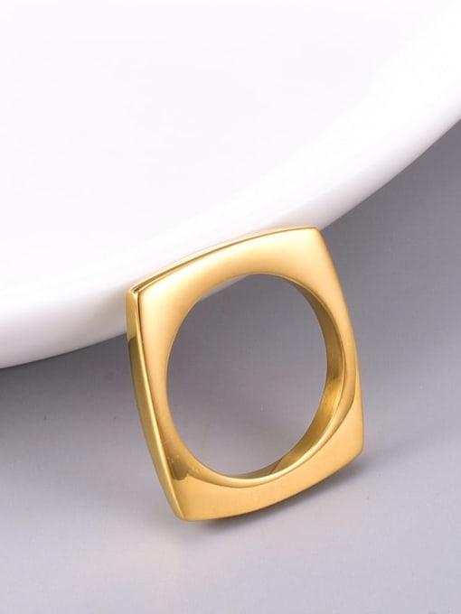 A TEEM Titanium Steel Hollow Round Minimalist Band Ring 1