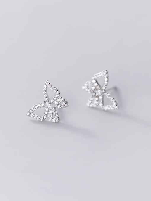 Rosh 925 Sterling Silver Rhinestone Butterfly Dainty Stud Earring 3