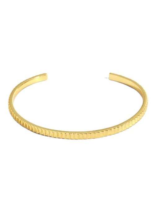 CHARME Brass Gear Geometric Vintage Cuff Bangle 3