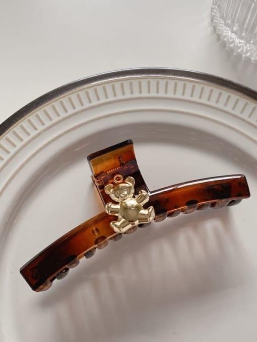 Caramel 10cm Acrylic Minimalist Geometric Alloy Jaw Hair Claw