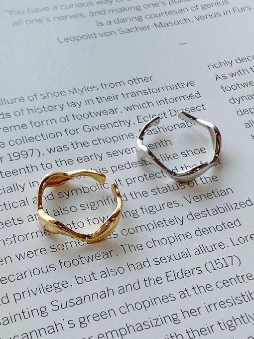 Boomer Cat 925 Sterling Silver Geometric Minimalist Band Ring 2